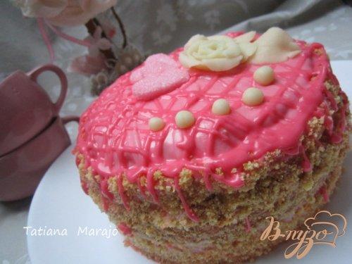 Торт с клубничным кремом