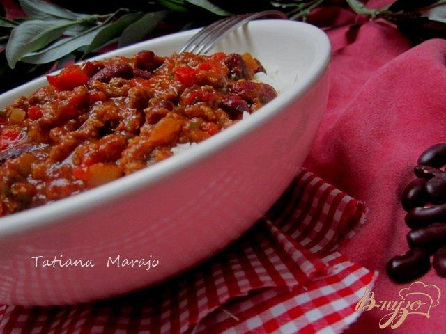 Фото приготовление рецепта: Чили кон корне   (Chili con carne) шаг №7