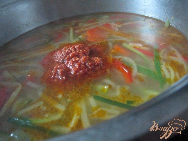 Фото приготовление рецепта: Легкий овощной суп шаг №6