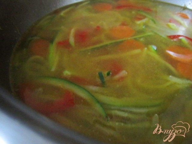 Фото приготовление рецепта: Легкий овощной суп шаг №5