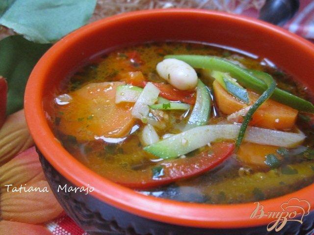 Фото приготовление рецепта: Легкий овощной суп шаг №7