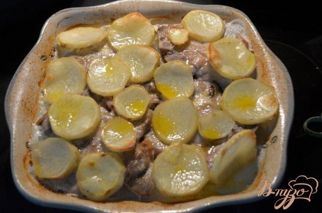 Фото приготовление рецепта: Тушеные свиные отбивные с овощами на молоке шаг №3