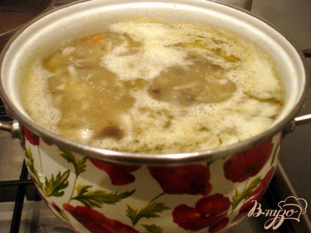 Фото приготовление рецепта: Щи на грибном бульоне шаг №5