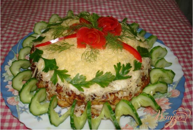 Фото приготовление рецепта: Торт из капусты шаг №6