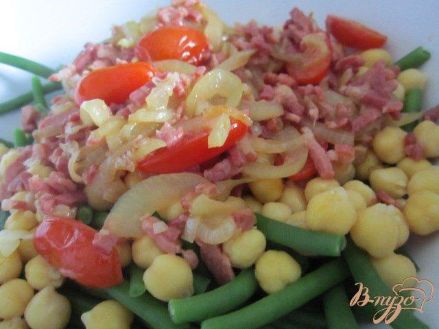 Фото приготовление рецепта: Теплый салат
