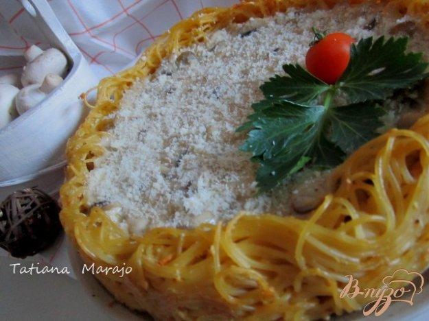 Рецепт Макаронный пирог с грибами