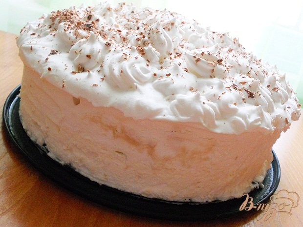 Фото приготовление рецепта: Торт-мороженое Мильфей *Семифреддо* шаг №12