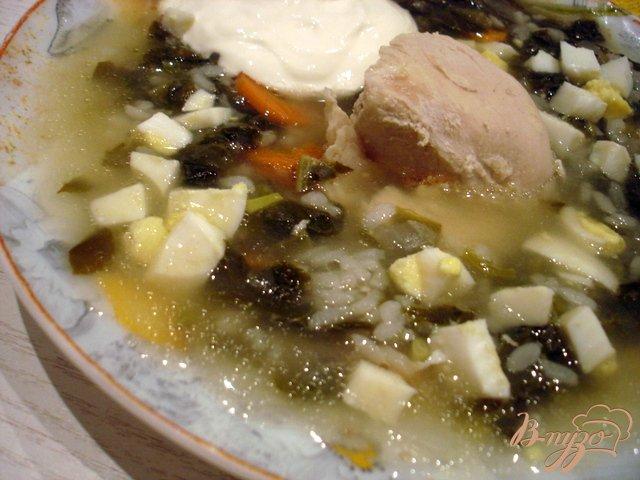 Фото приготовление рецепта: Суп со щавелем шаг №7