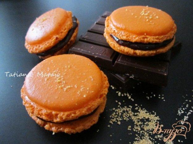 Рецепт Апельсиновые макарон с шоколадным ганашем