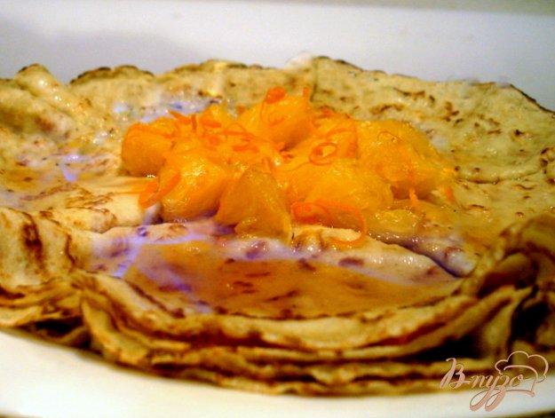 Рецепт Блины фламбе с апельсиновым джемом