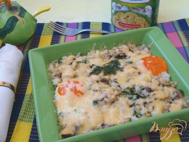 Рецепт Рисовая запеканка с резанными шампиньонами