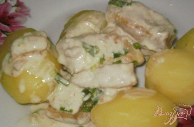 Рецепт Свинина тушеная в сметанном соусе