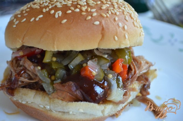 фото рецепта: Тушеная свинина  барбекю