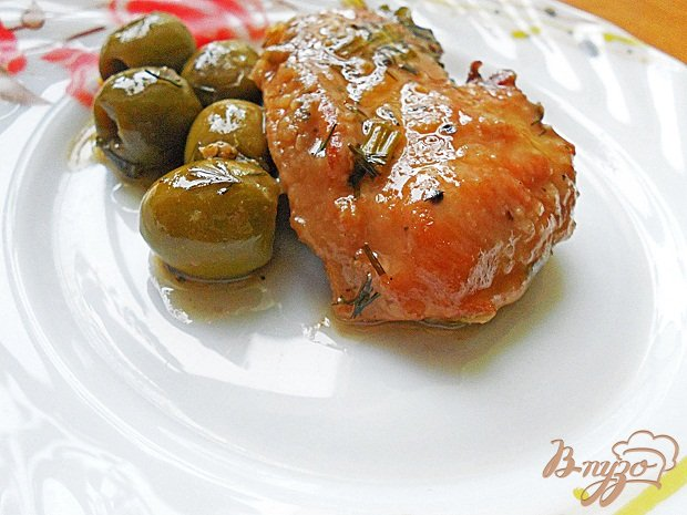Рецепт Куриная грудка с оливками