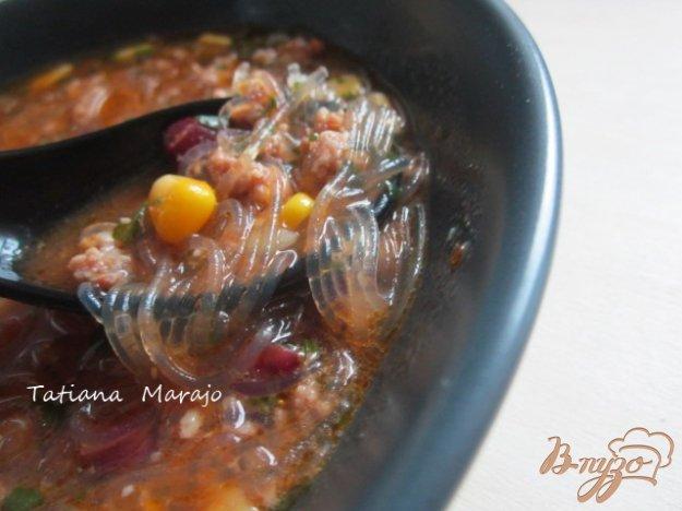 фото рецепта: Суп с рисовой лапшой