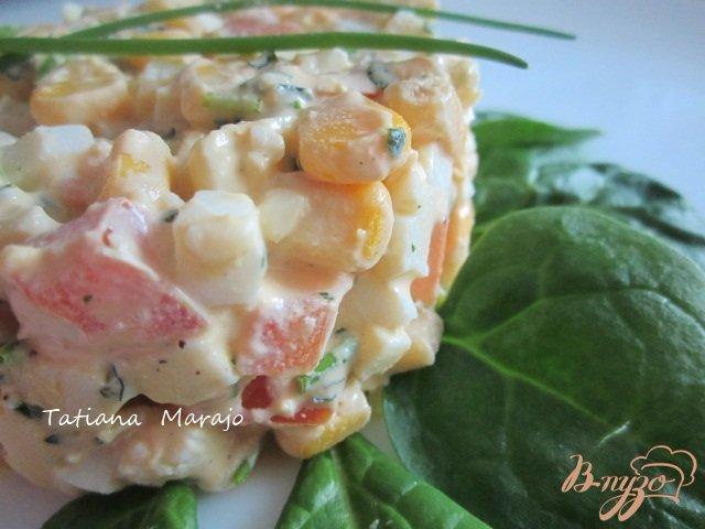 Фото приготовление рецепта: Яичный салат шаг №5