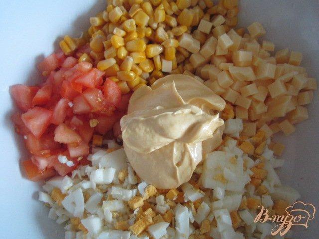 Фото приготовление рецепта: Яичный салат шаг №3