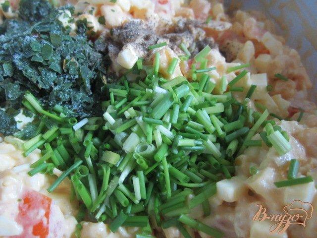 Фото приготовление рецепта: Яичный салат шаг №4