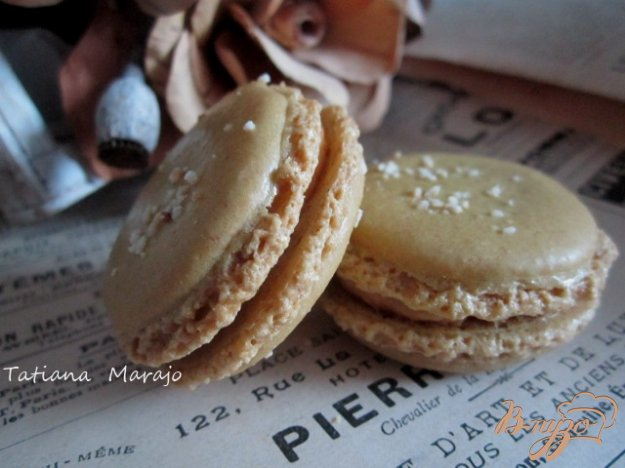 Рецепт Карамельные макарон (Les macarons)