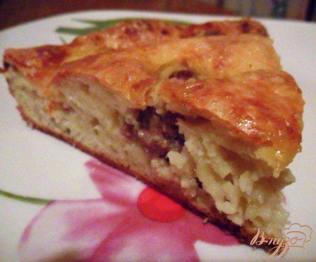 Рецепт Сытный пирог с фрикадельками