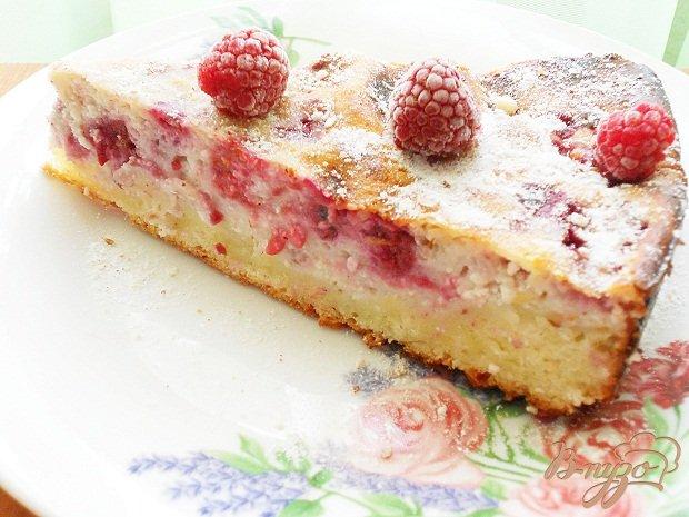 Рецепт Малиново-творожный пирог