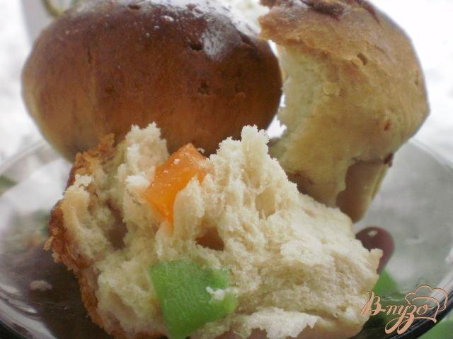 Фото приготовление рецепта: Булка с цукатами шаг №4