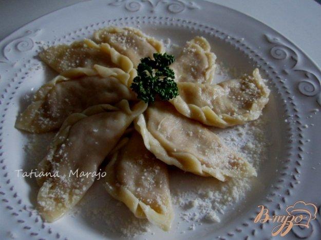 Рецепт Картофельные вареники с гусиным паштетом