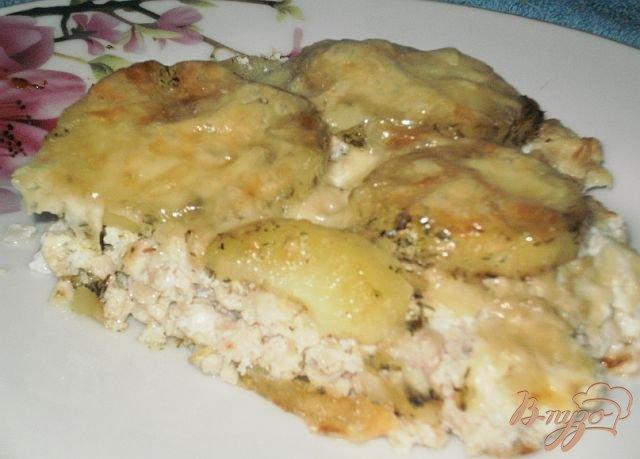 Рецепт куриного фарша в духовке с картофелем
