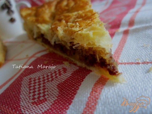 Фото приготовление рецепта: Пирог с франжипаном из лесного ореха шаг №8