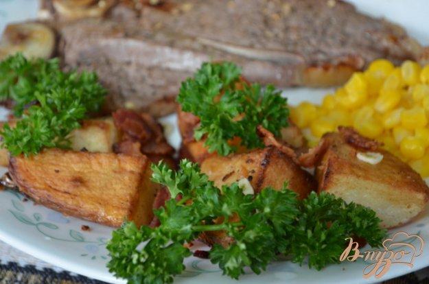 Рецепт Хрустящий картофель с беконом и петрушкой