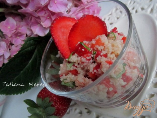 Рецепт Десерт с клубникой и крупой