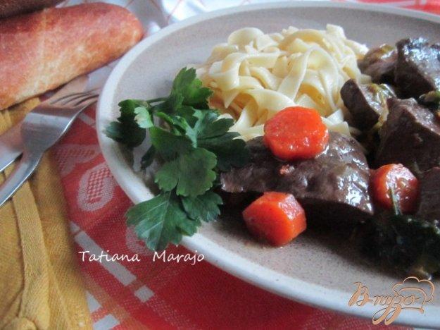 Рецепт Говяжье сердце с морковью в яблочном сидре