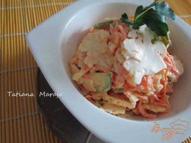 Рецепт Салат из свежей цветной капусты