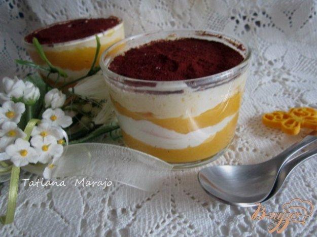 Рецепт Десерт с экзотическими фруктами