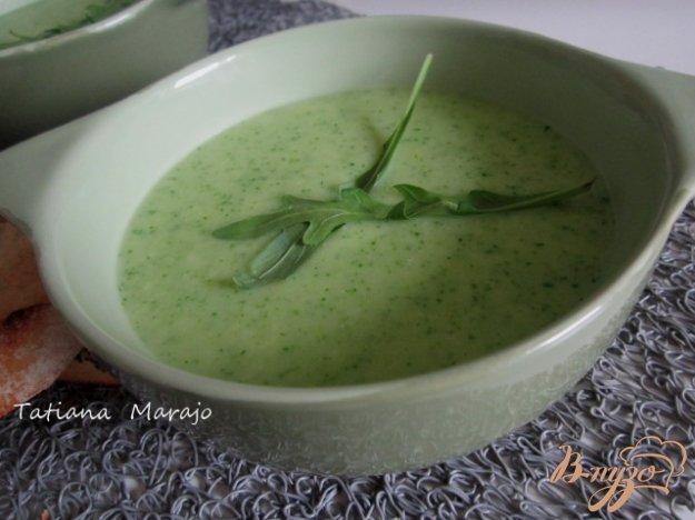фото рецепта: Кабачковый суп с рукколой