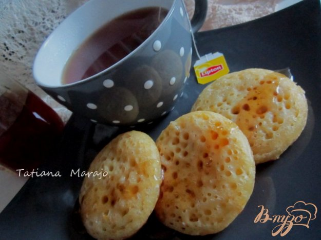 Рецепт Апельсиновые крампеты (Crumpets)