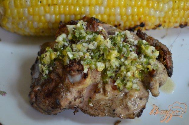 Рецепт Куриные бедрышки с соусом из базилика