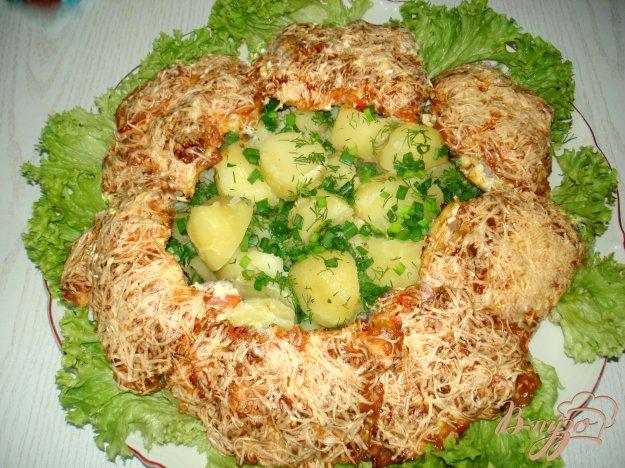 Рецепт Мясо запеченное с помидорами