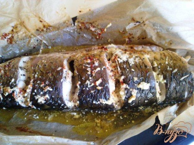 Рецепт Амур белый запеченный в пергаменте