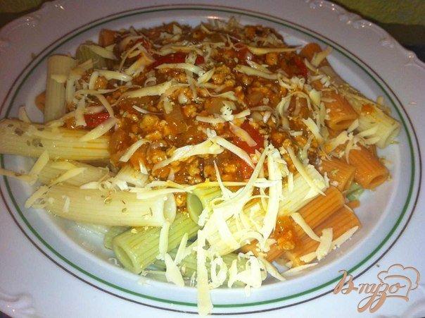 Фото приготовление рецепта: Макароны с соусом Болоньезе шаг №6