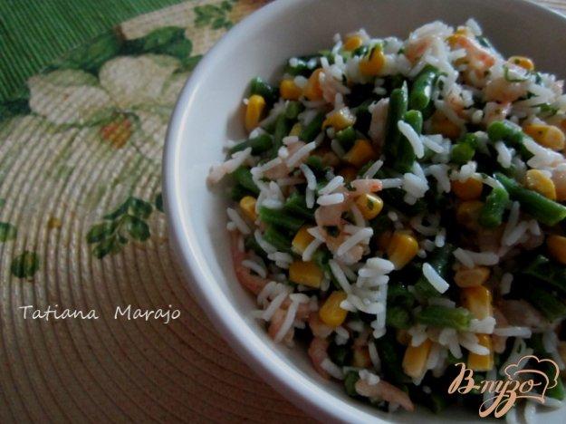 фото рецепта: Рисовый салат с креветками