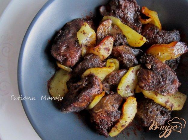 Рецепты с куриной печенью и яблоками