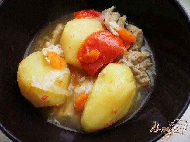 Рецепт Сытное овощное рагу с курицей