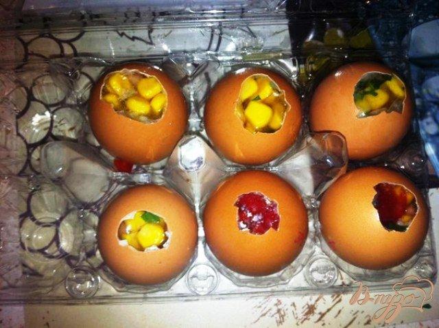 Фото приготовление рецепта: Пасхальные желатиновые яйца шаг №7