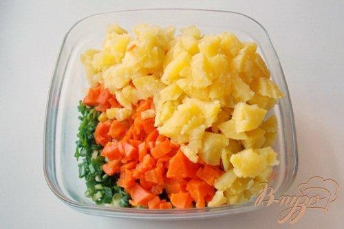 """Овощной салат с маринованными опятами  """"Дарья"""""""
