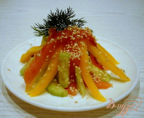Салат из сёмги холодного копчения