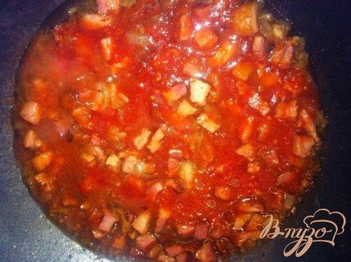 Спагетти  с ветчиной и пармезаном