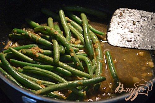 Говядина  с зеленой фасолью