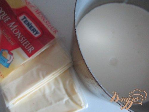 Лук-порей с ветчиной под сливочным соусом