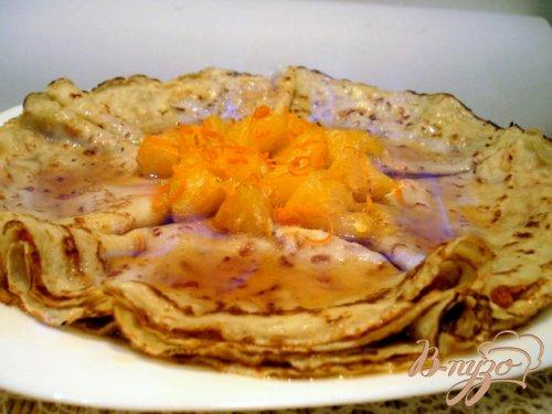 Блины фламбе с апельсиновым джемом